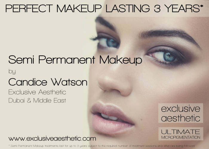 Natural semi permanent make up